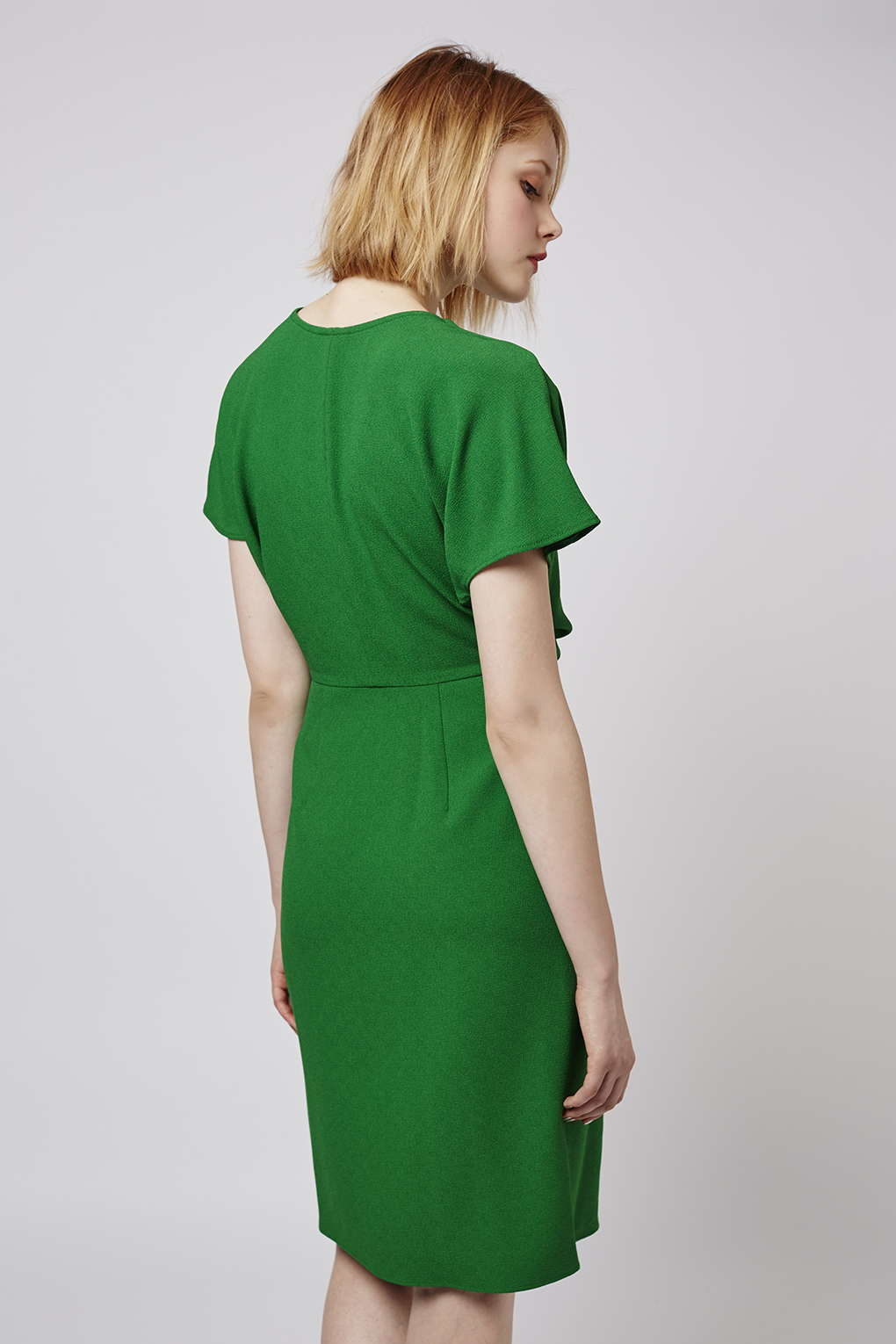 Lyst Topshop Wrap Dress In Green