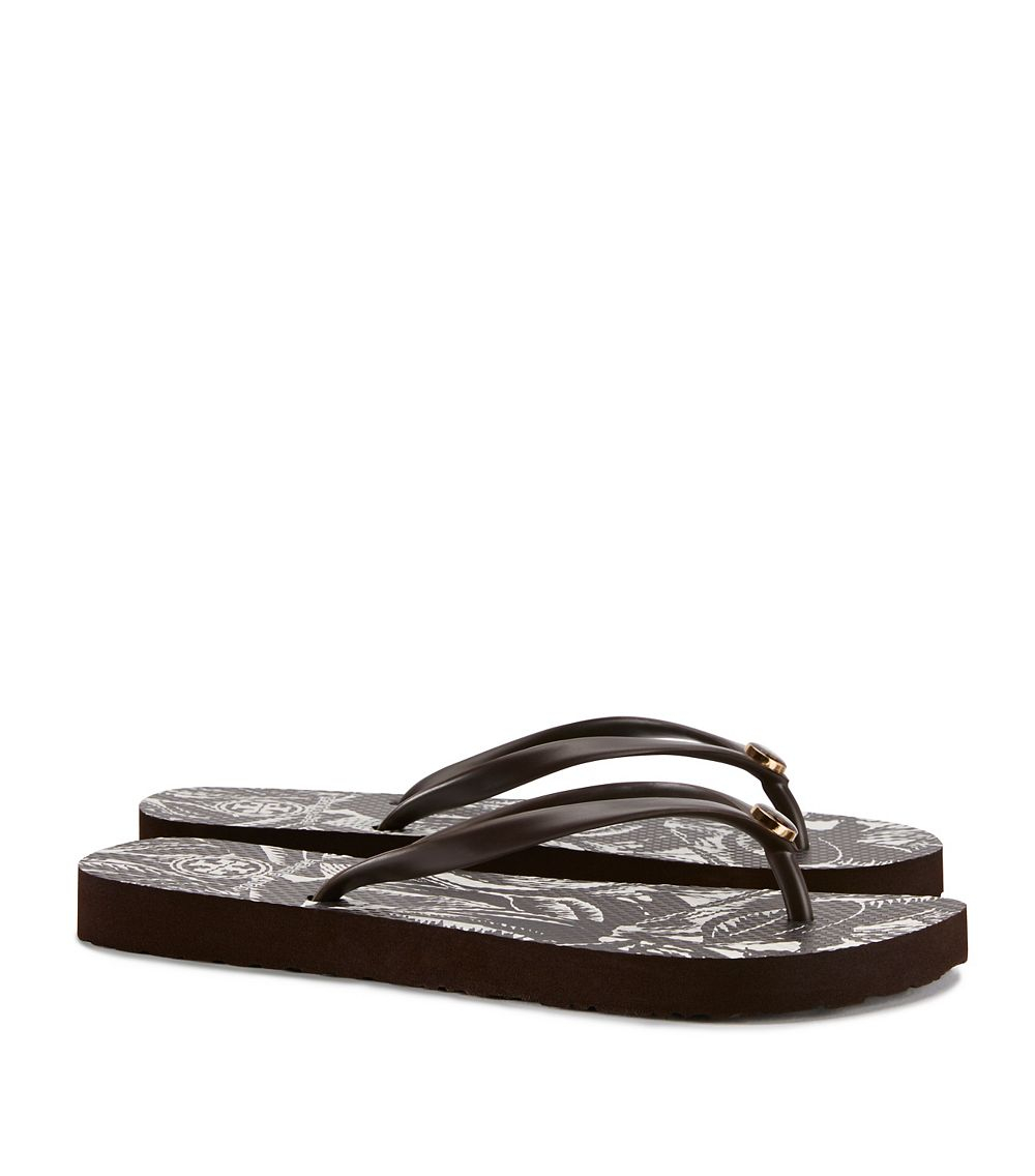 fa08098e40b2 Lyst - Tory Burch Thin Flip-flop in Brown