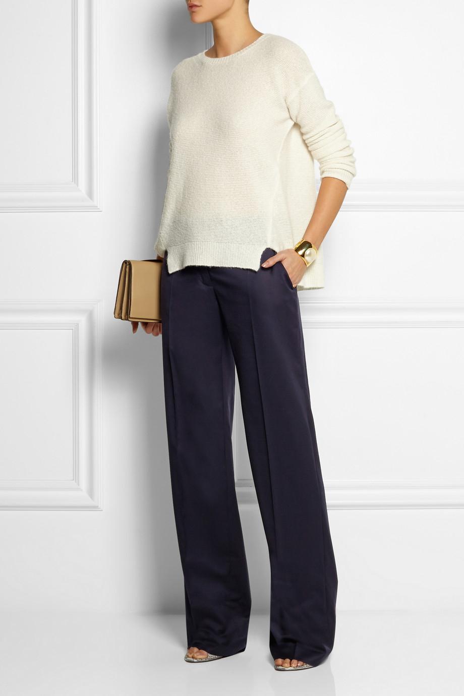 Stella mccartney Jasmine Wool-Twill Wide-Leg Pants in Blue | Lyst