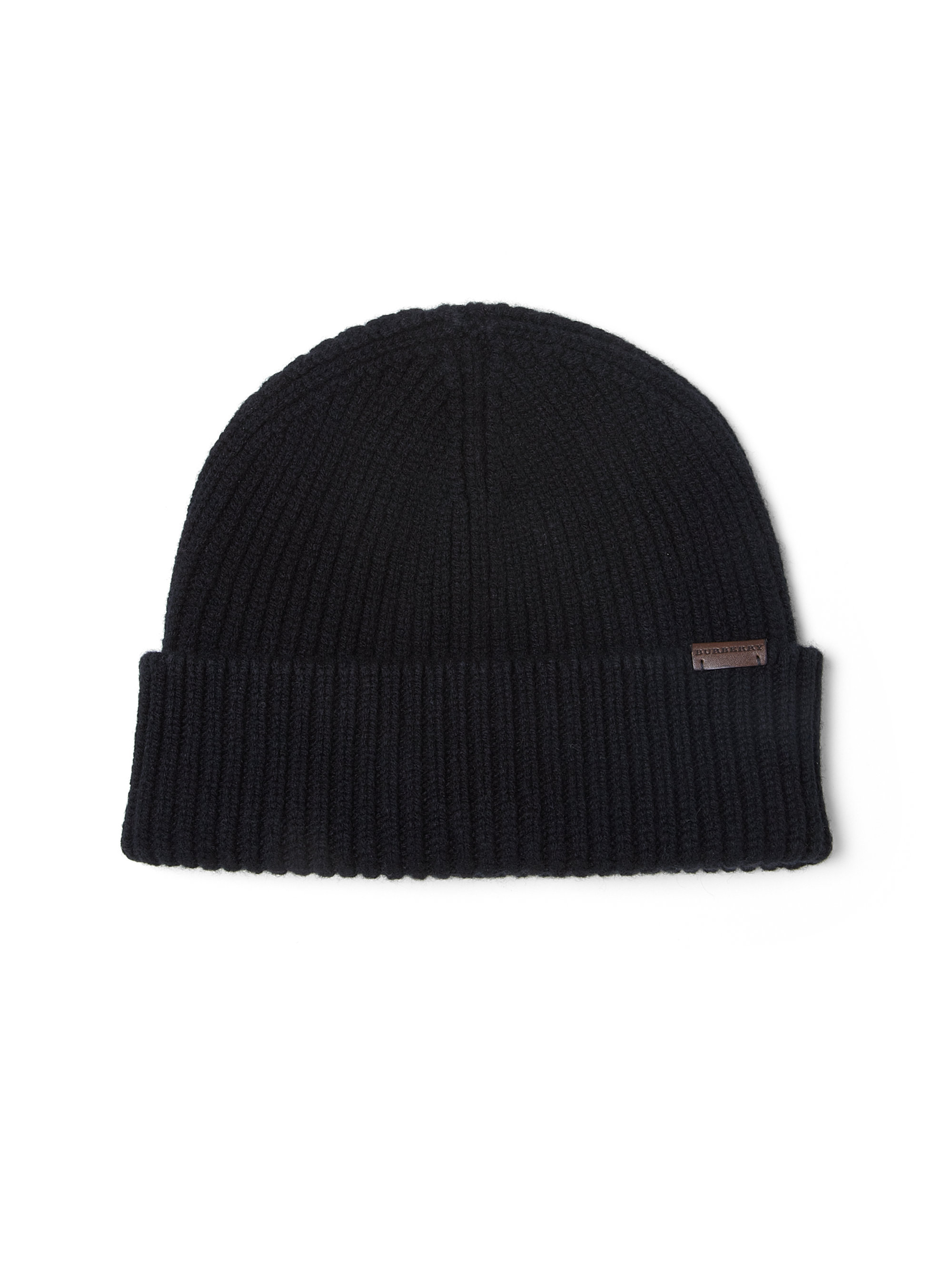 7cd53102a54 Lyst - Burberry Wool   Cashmere Beanie Hat in Black for Men