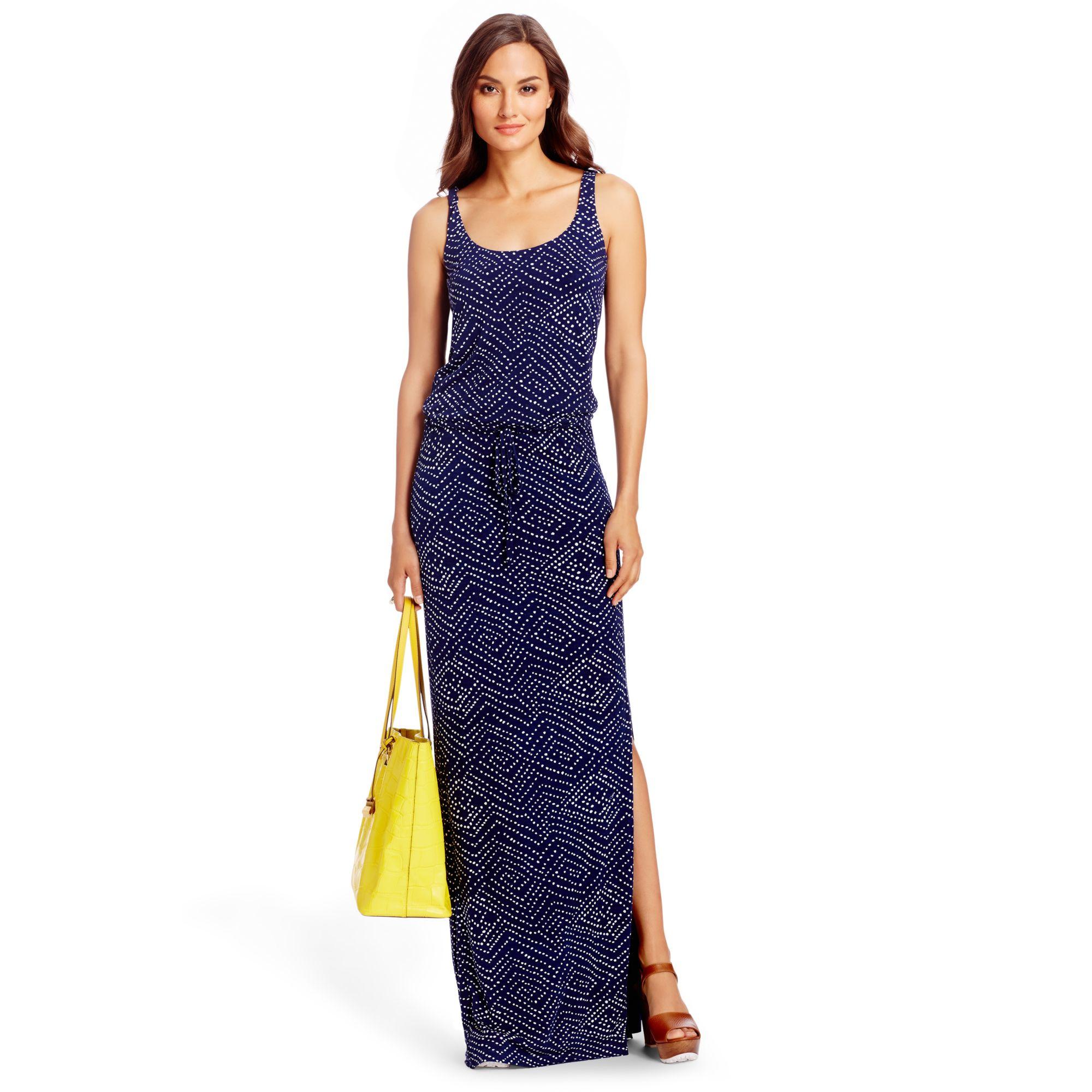 ea703191e689f Lyst - Diane von Furstenberg Dvf Sophie Jersey Maxi Dress in Blue