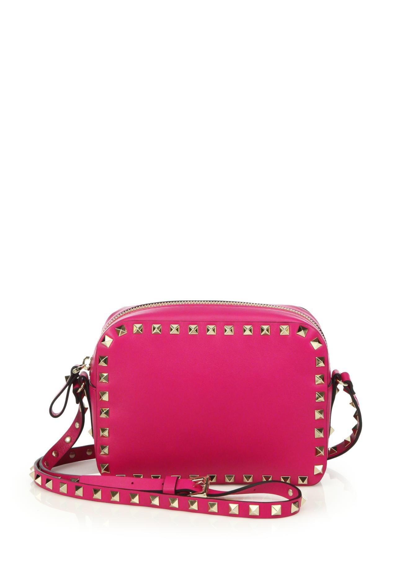 Valentino Rockstud Camera Bag in Pink  Lyst