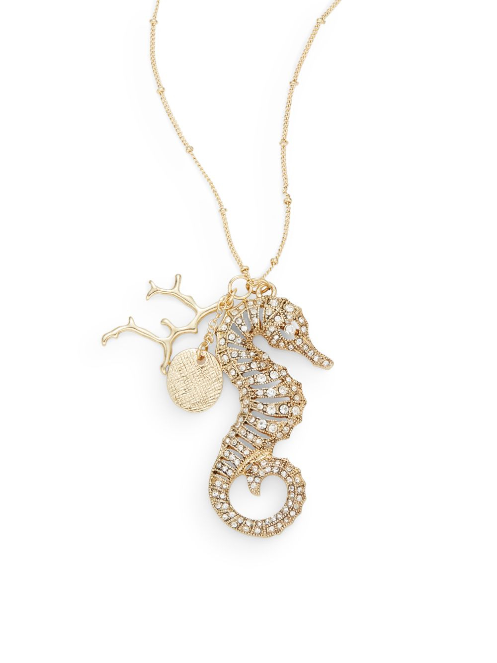 Lyst saks fifth avenue seahorse pendant necklace in metallic gallery mozeypictures Images