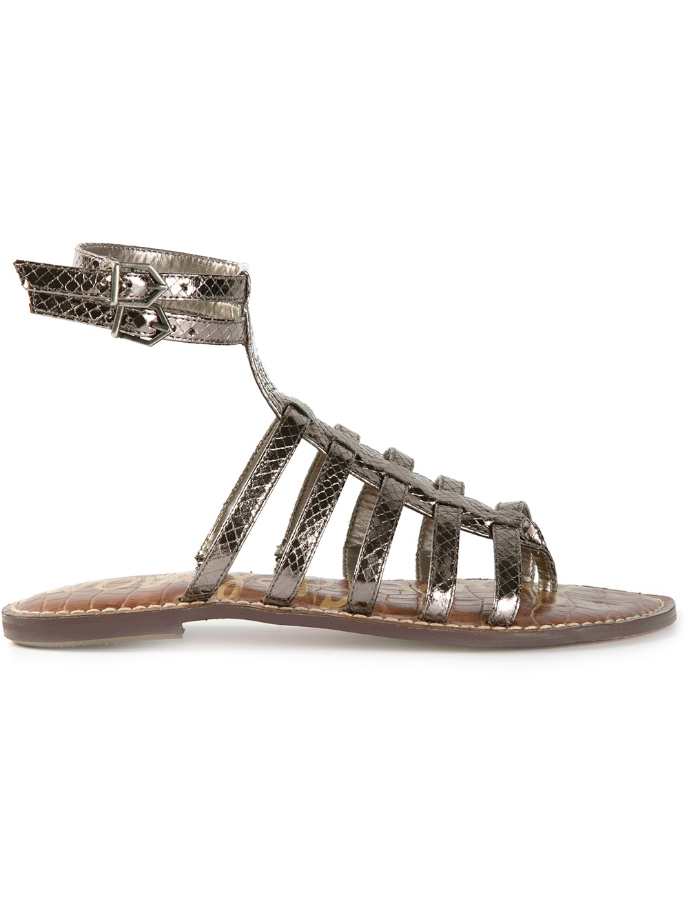 Sam Edelman Gilda Gladiator Sandals In Metallic Lyst