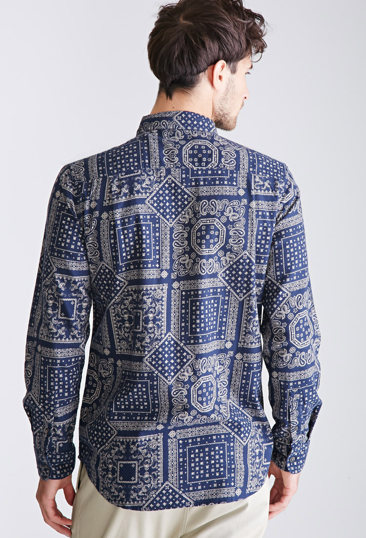 Find bandana print shirt at ShopStyle. Shop the latest collection of bandana print shirt from the most popular stores - all in one place. Top colors For bandana print shirt Blue bandana print shirt Bandana Print Shirt + Save this search Calvin Klein Jeans Men's Long Sleeve Roll Tab Button Down Shirt Bandana Print $– $