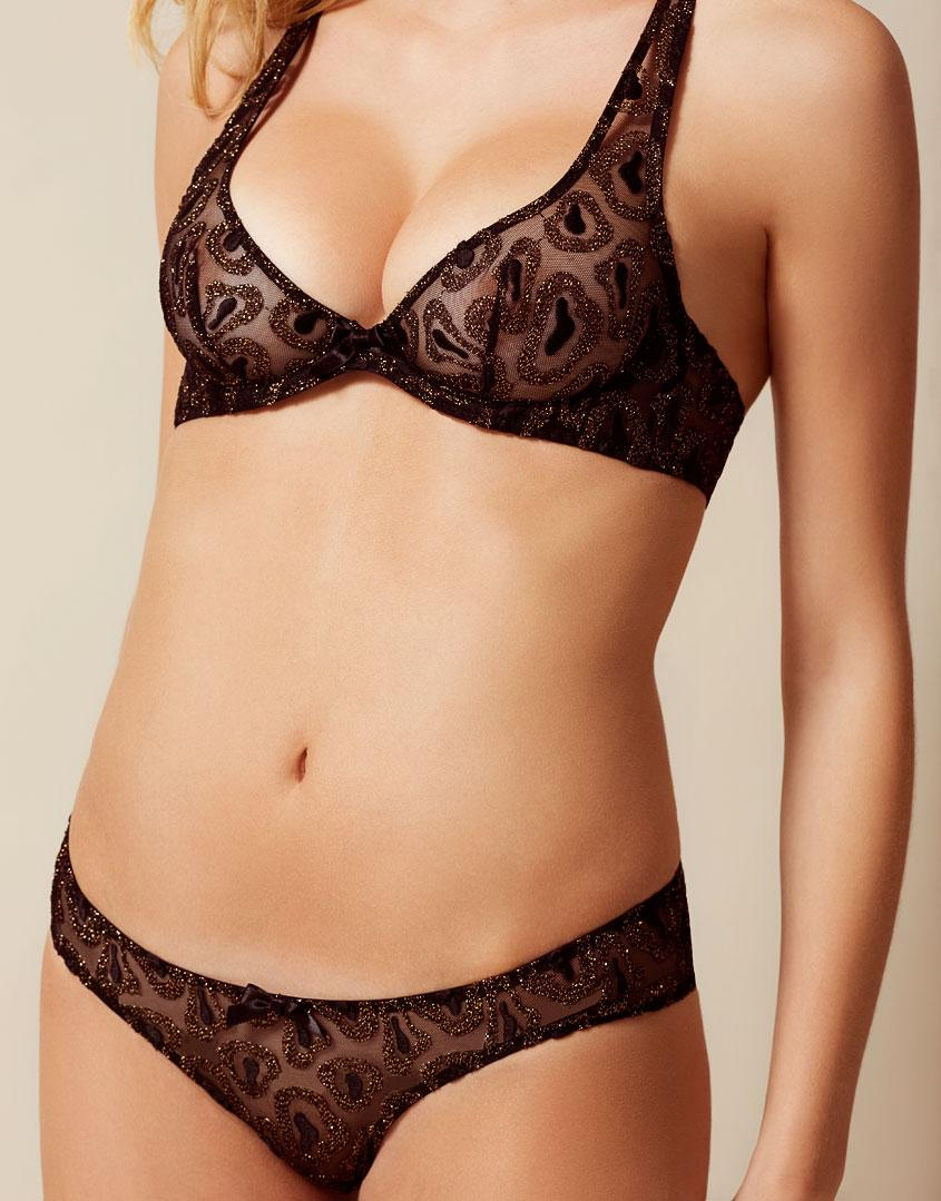 286e3d5c562 Lyst - Agent Provocateur Gina Bra Black And Gold in Black