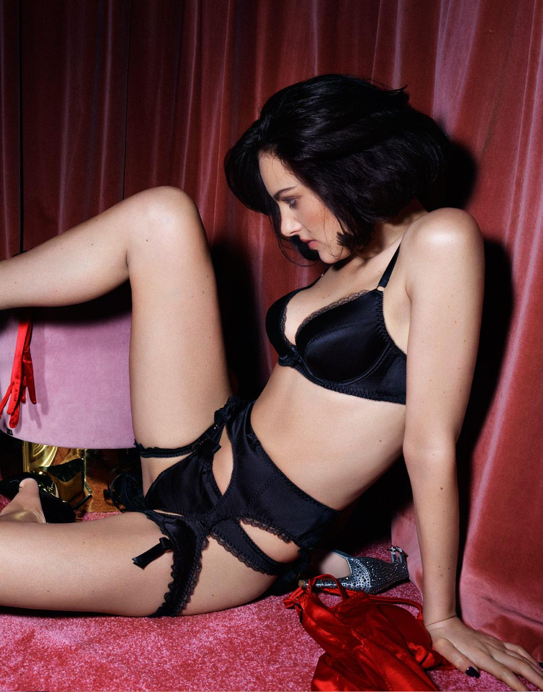 Agent Provocateur - Felinda Fifties Style Suspender Black - Lyst. View  fullscreen 2f8a9b50a