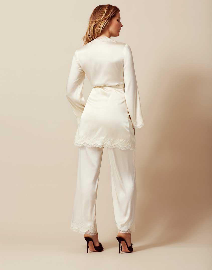 91628b2762 Agent Provocateur - White Amelea Pyjama Top Ivory - Lyst. View fullscreen