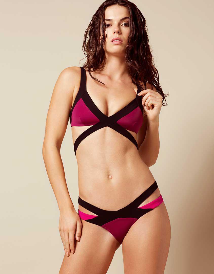 5613dcbe58 Agent Provocateur Mazzy Bikini Bra Burgundy in Purple - Lyst