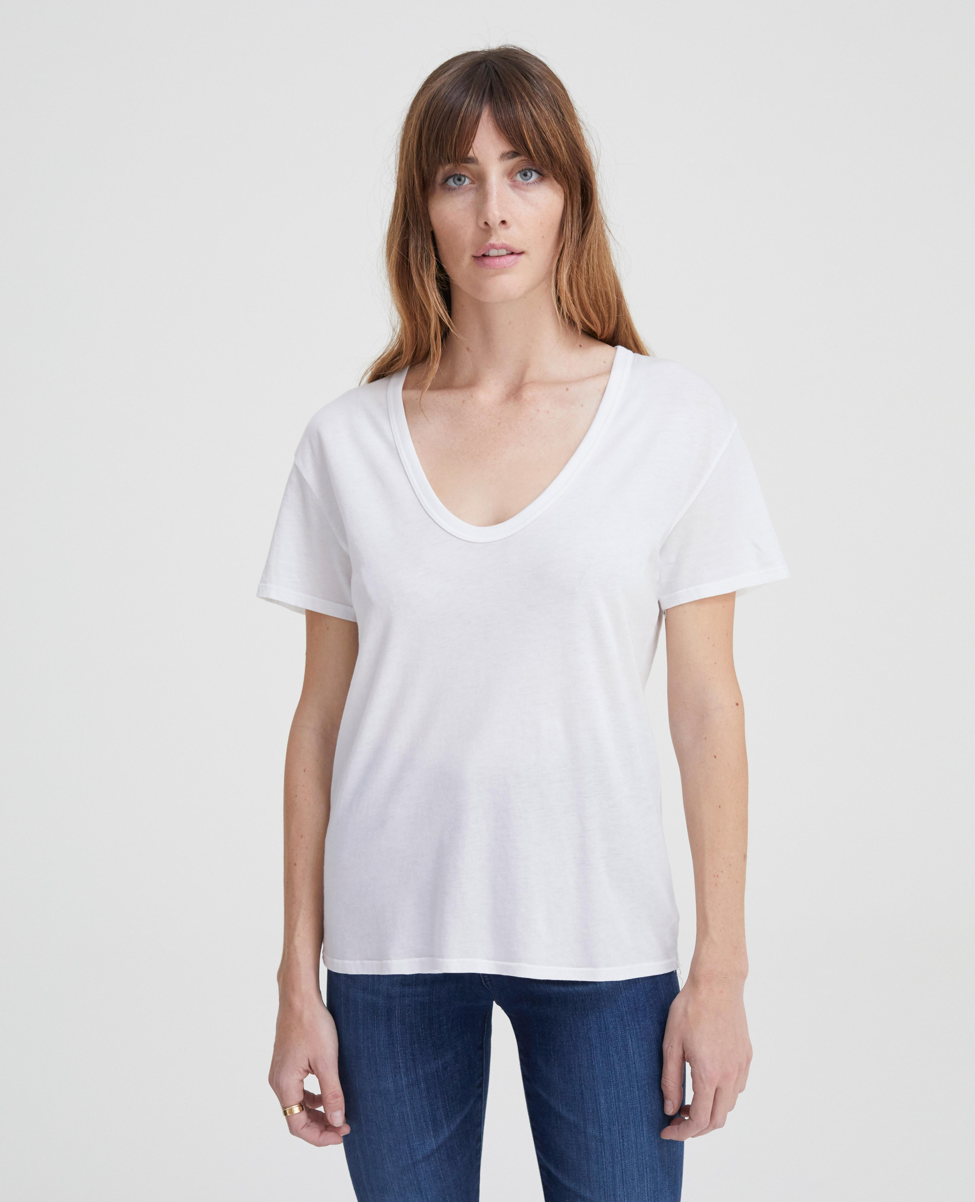 dc27080abc068e Lyst - AG Jeans The Henson Tee in White