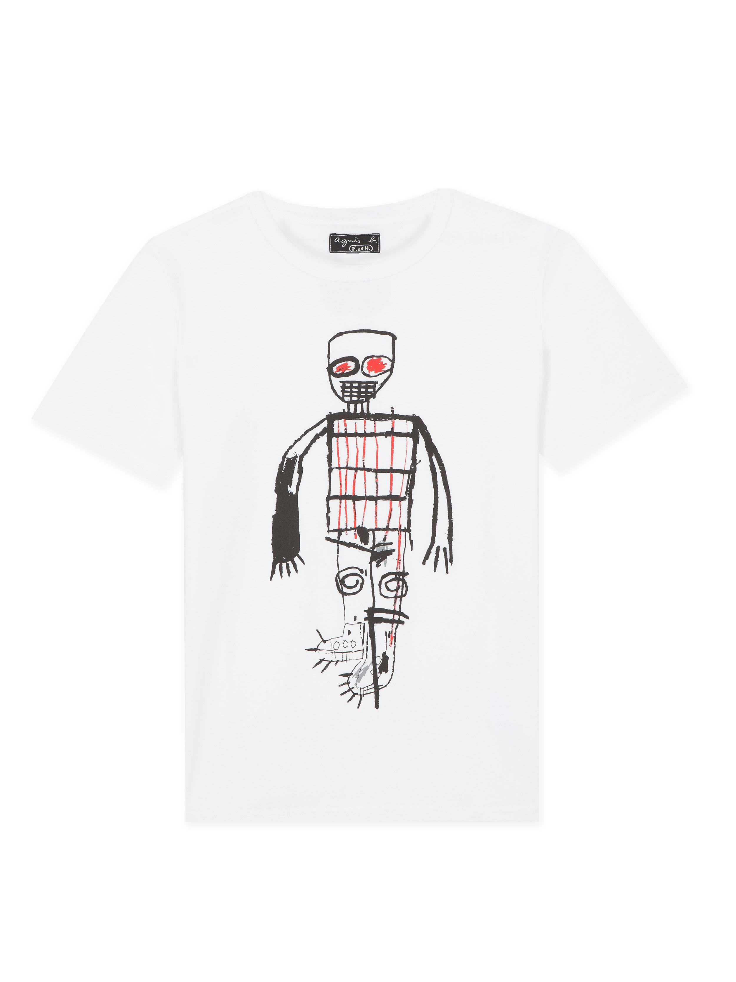7c23db83a32d agnès b. White Unisex Jean-michel Basquiat T-shirt in White - Lyst