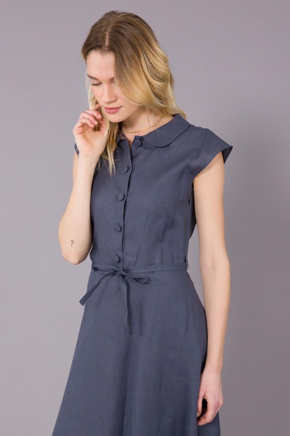 Lyst Agn 232 S B Grey Adele Dress In Blue