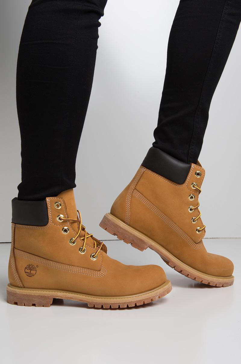 5bd75257e1c Timberland Women's 6-inch Premium Waterproof Boot - Wheat Nubuck - Lyst
