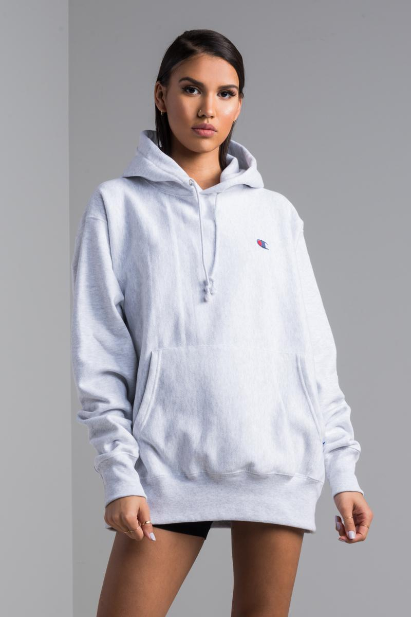 7f8309408398 Champion Reverse Weave Pullover Hoodie in Gray - Lyst