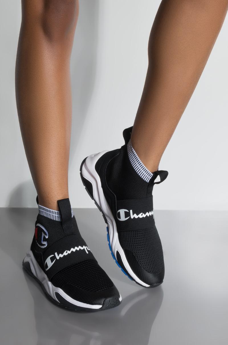 347f625e5 Champion rally pro sock knit sneaker in black lyst jpg 800x1209 Rall pro  champion