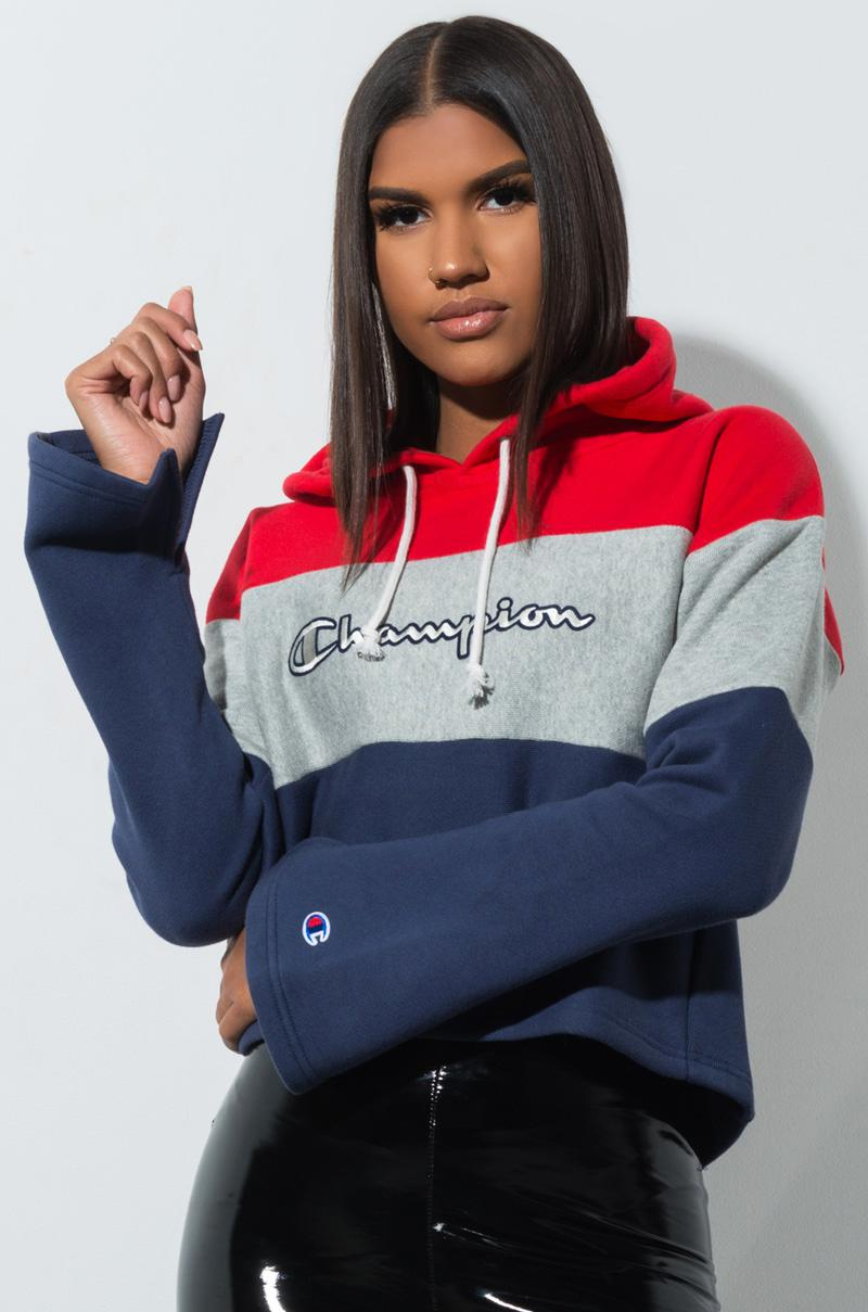 d905bfb41079 Champion. Women s Reverse Weave Colorblock Cropped Hoodie