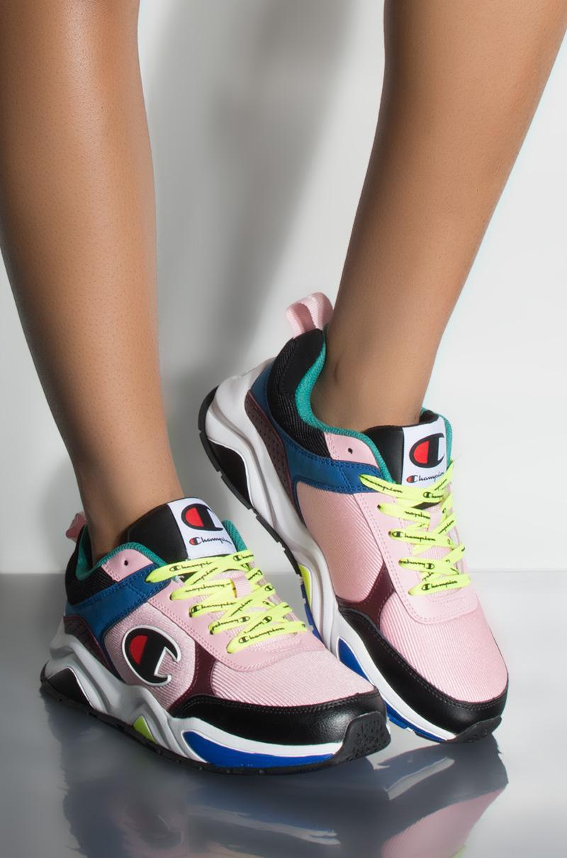 3ef25625b50 Champion 93 Eighteen Block Sneaker In Pink Multi in Pink - Lyst