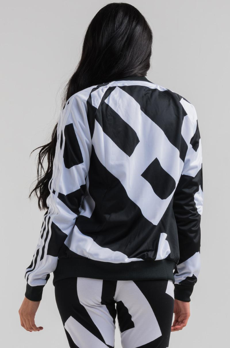 1c8ee78bb1c Lyst - AKIRA Adidas Bold Age Sst Track Top in Black