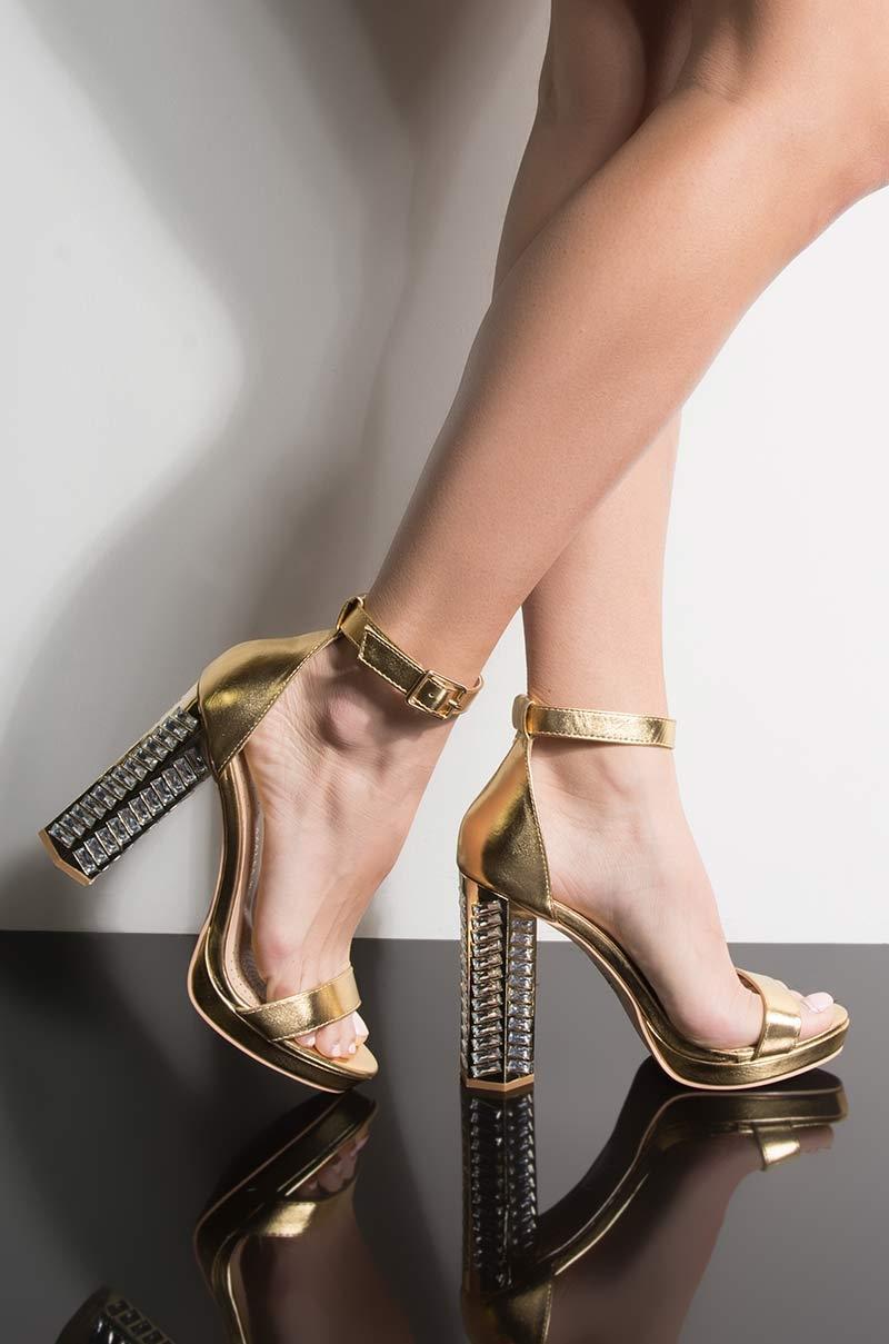 36b1abb53 Lyst - Unk Azalea Wang Killer Queen Chy Heeled Sandal in Metallic