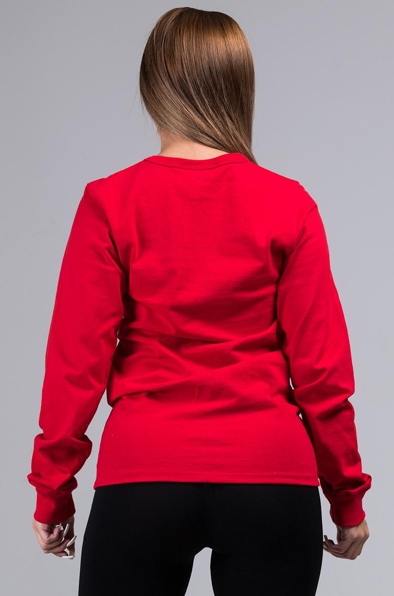 e0e2efdb6a3 Champion - Red Unisex Heritage Long Sleeve Tee With Large C Logo - Lyst.  View fullscreen