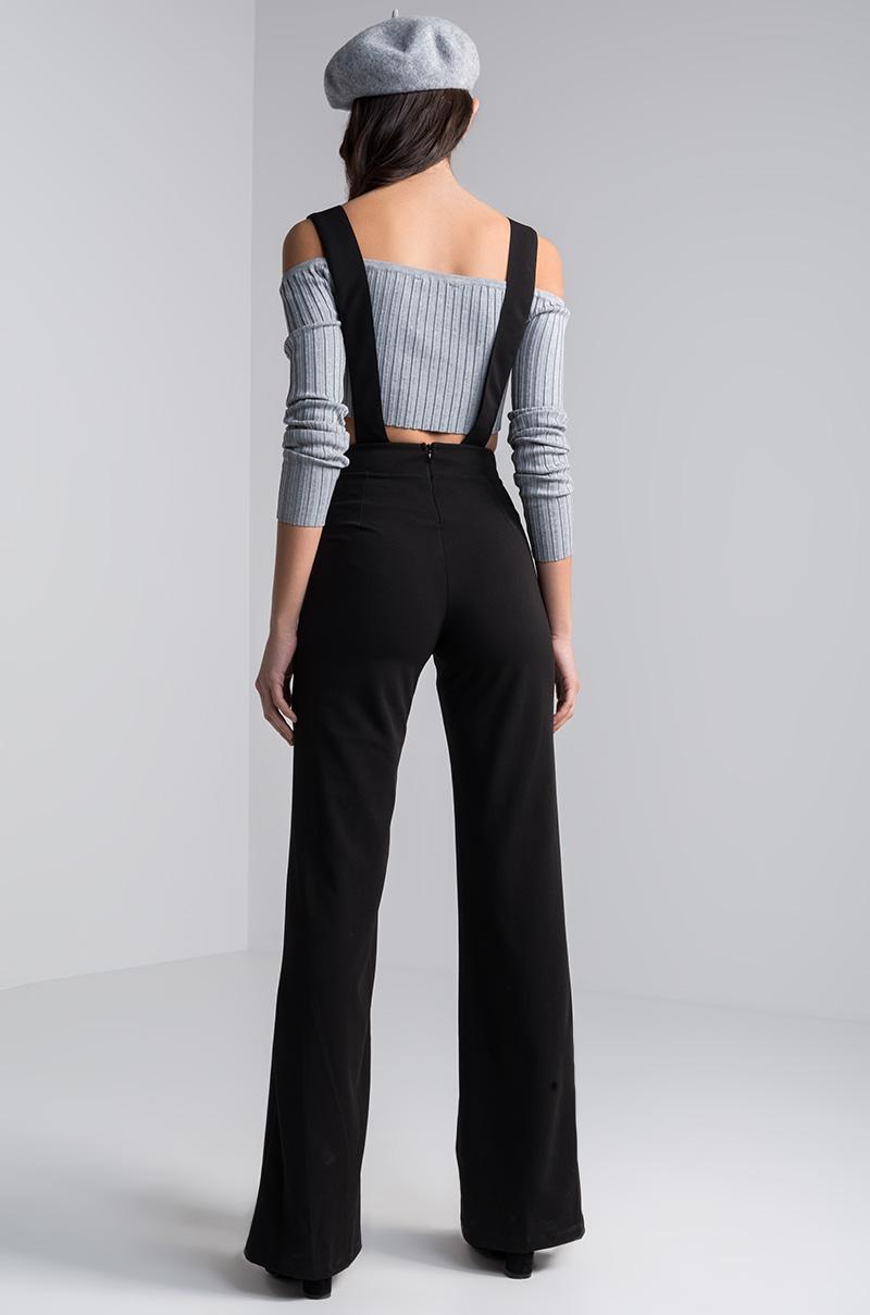 811bec76da2 Lyst - AKIRA Bernadette Suspender Overalls in Black