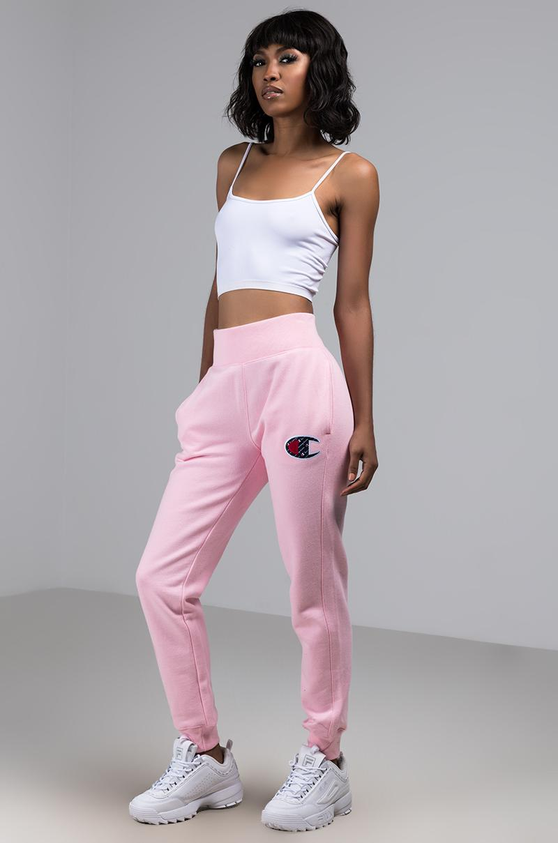 c6fafc16f308 Lyst - Champion Womens Reverse Weave JOGGER With Sublimated Big C ...