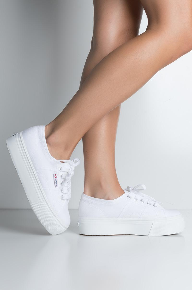 45693a571cb Lyst - AKIRA Superga 2790 Acotw Linea Platform Sneaker in White