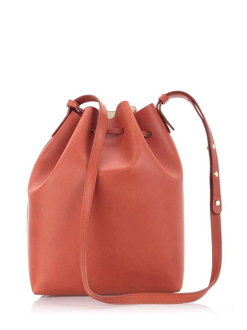 mansur gavriel brandy leather 39 bucket 39 bag in brown lyst. Black Bedroom Furniture Sets. Home Design Ideas