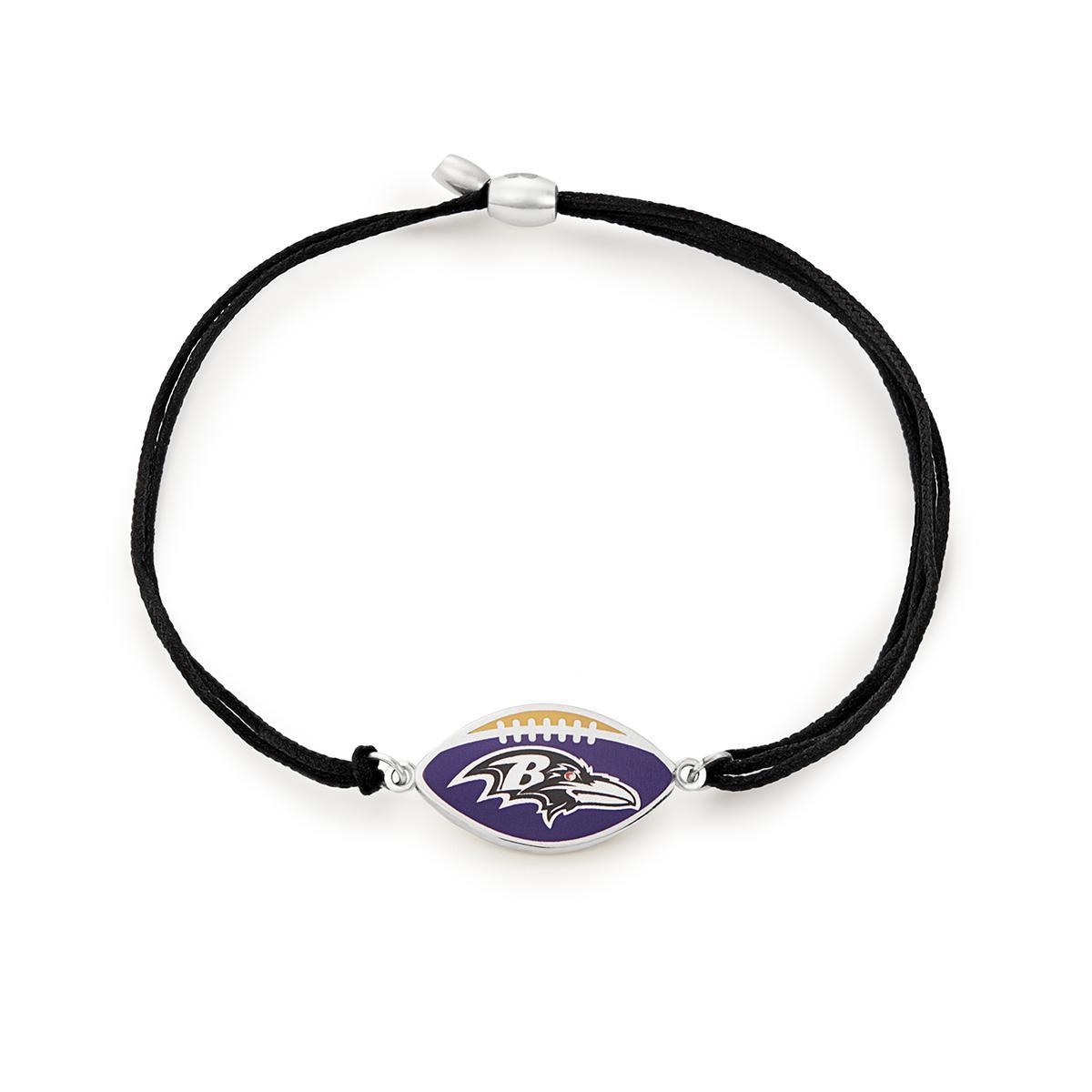 86d1f5d8435c7 Lyst - ALEX AND ANI Oakland Raiders Pull Cord Bracelet in Metallic ...