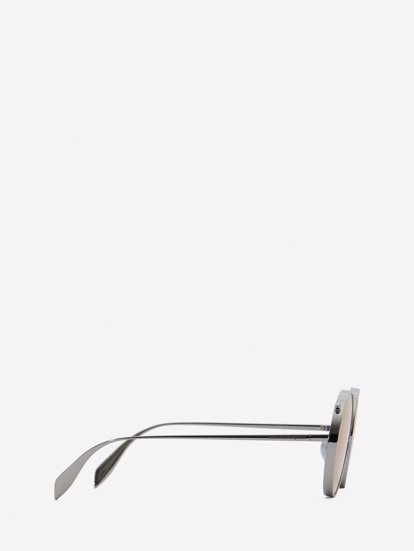 55c556ff036f Lyst - Alexander McQueen Metal Round Piercing Frame in White