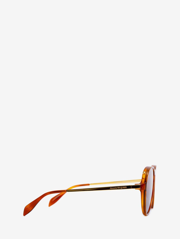 6f90ad09e972 Lyst - Alexander McQueen Acetate Aviator Piercing Frame for Men