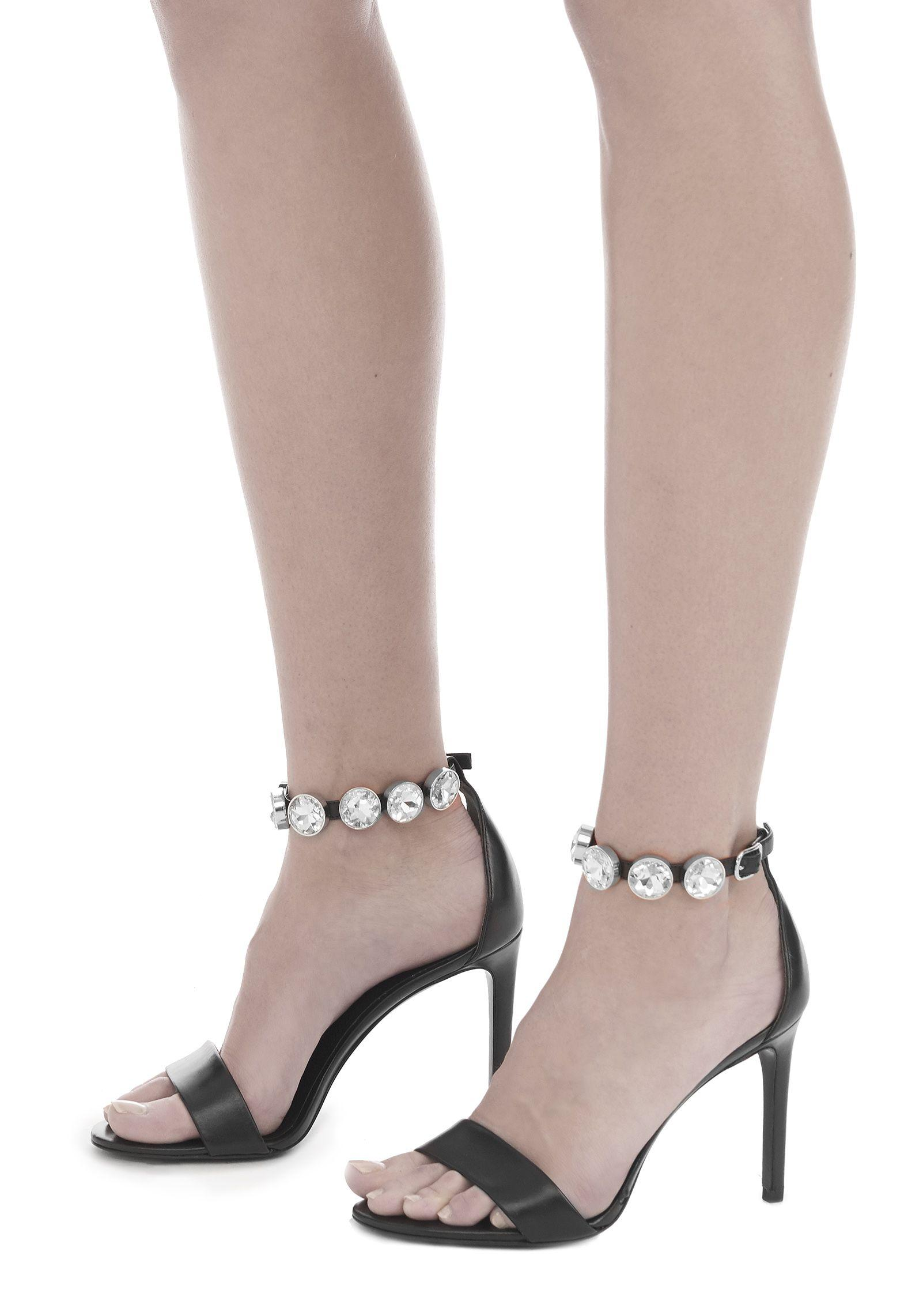 Lyst Alexander Wang Brynn High Heel Sandal With Glass