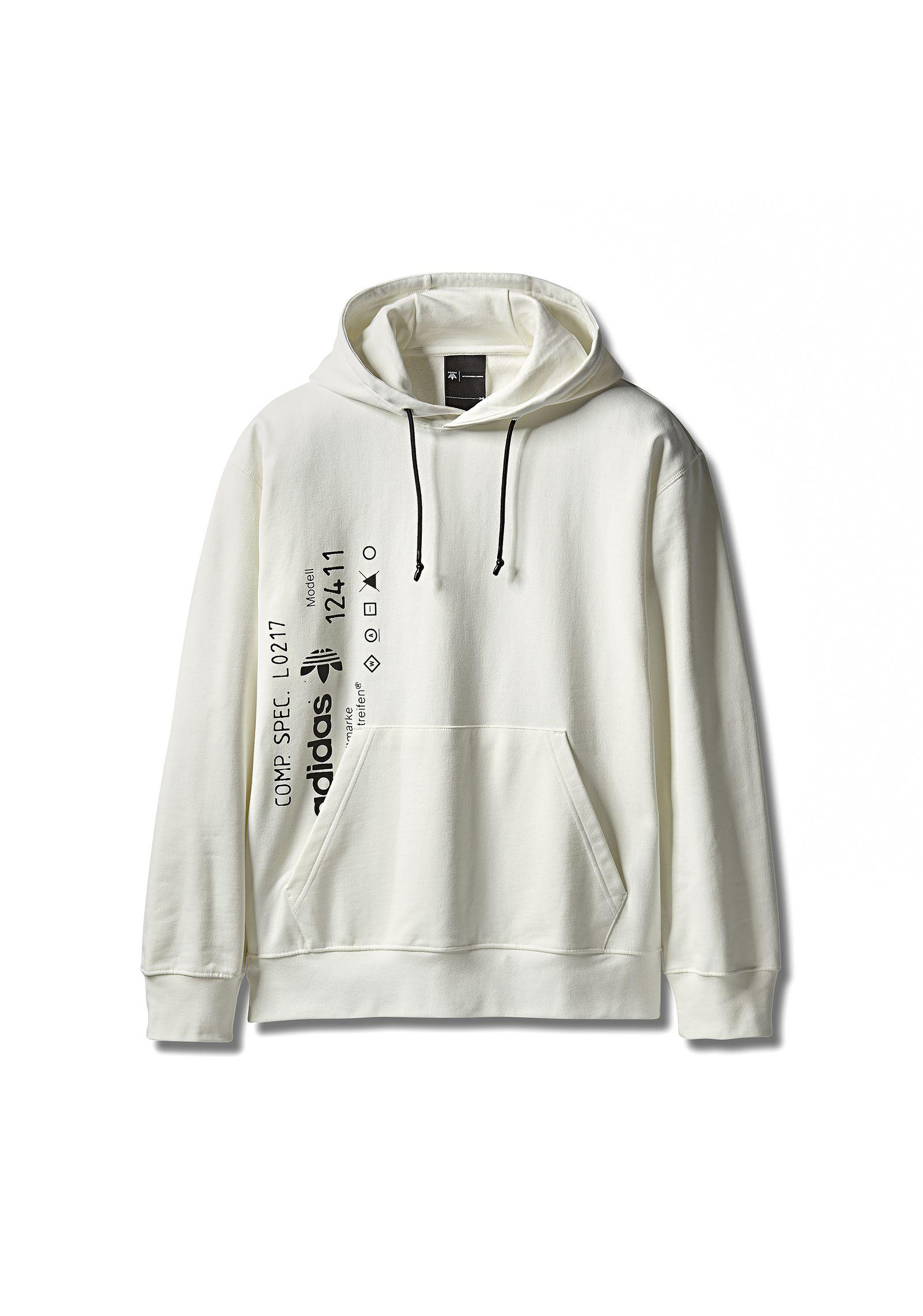 Lyst - Alexander Wang Adidas Originals By Aw Graphic Hoodie in White ... 33872599f5b4e