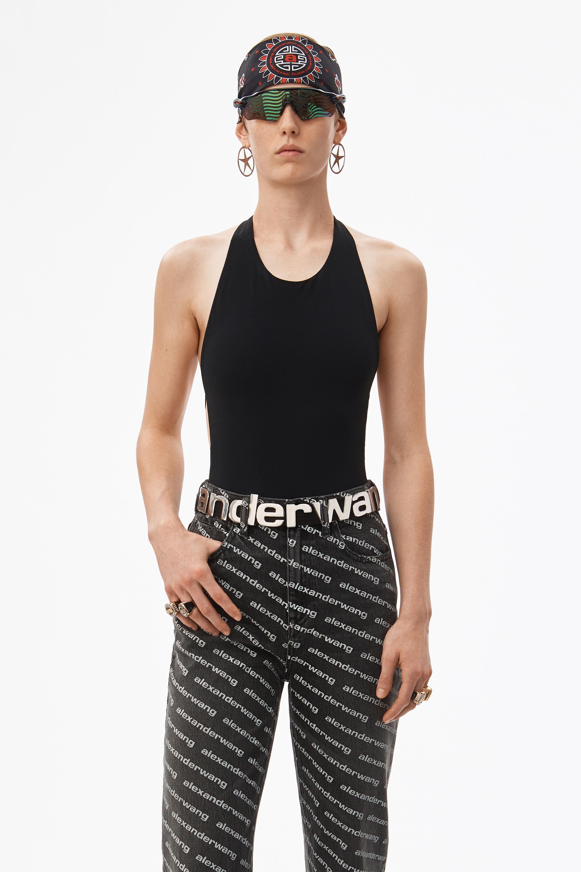 Swim Jersey Lyst Alexander Wang In Bodysuit Black 8wOkPX0n