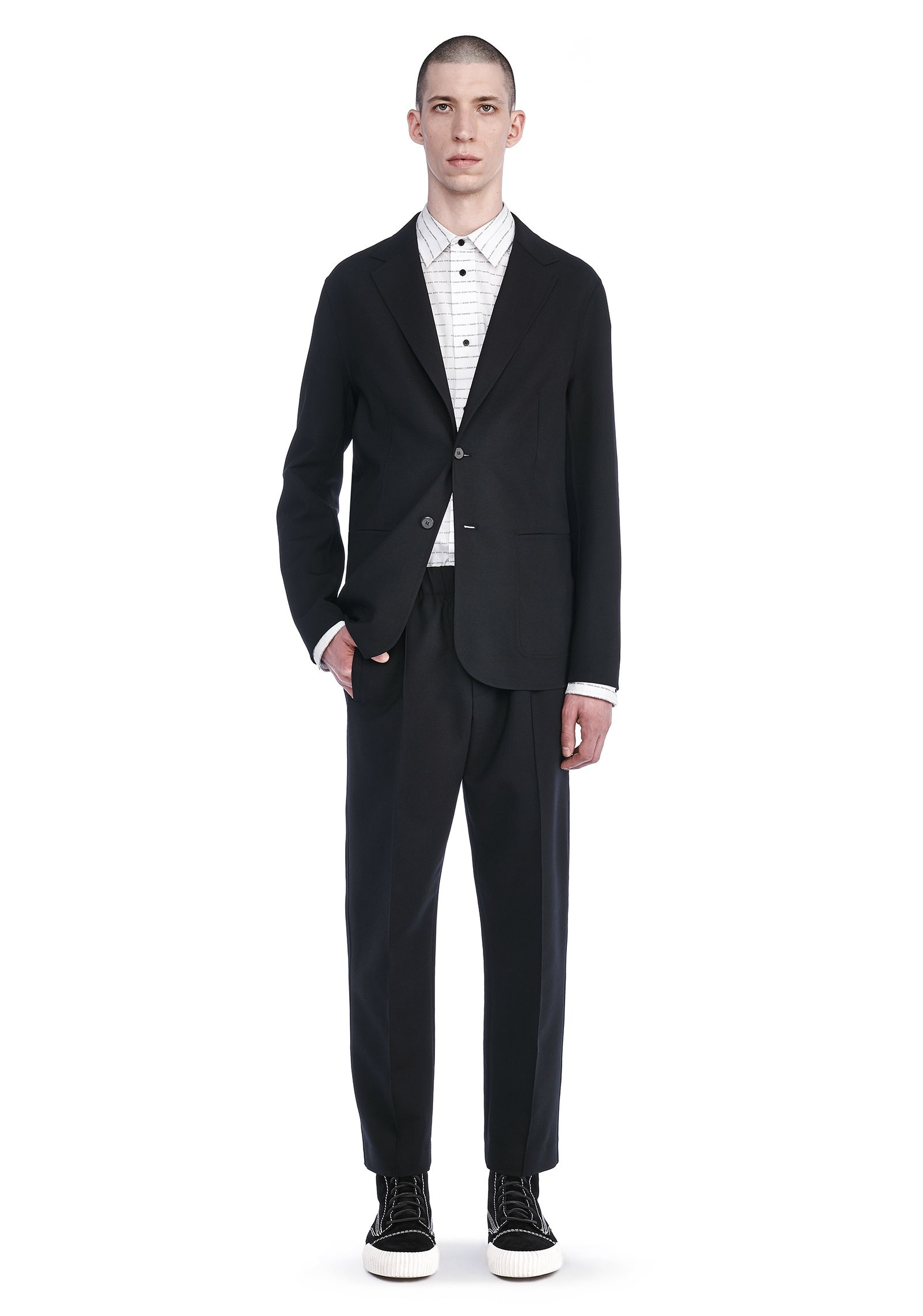 Lyst - Alexander Wang Two Button Tailored Jacket in Black ...