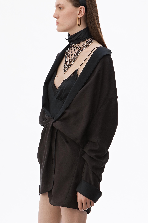 71f93010aa49 Alexander Wang - Black Draped Pajama Romper - Lyst. View fullscreen