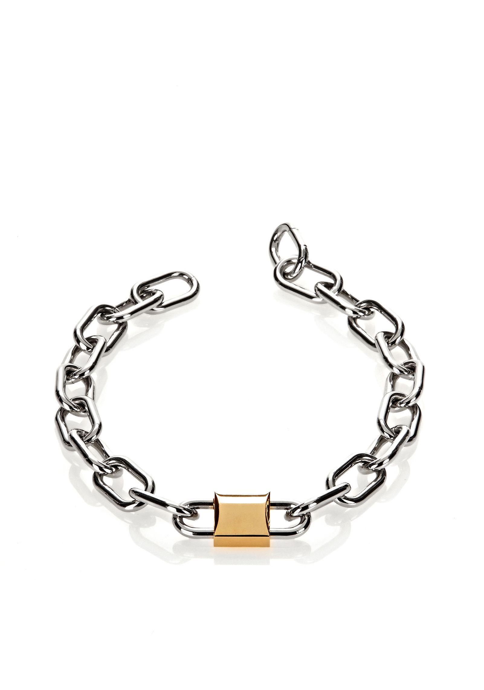 Alexander Wang Mixed Links Necklace in Metallics CUGxSAr