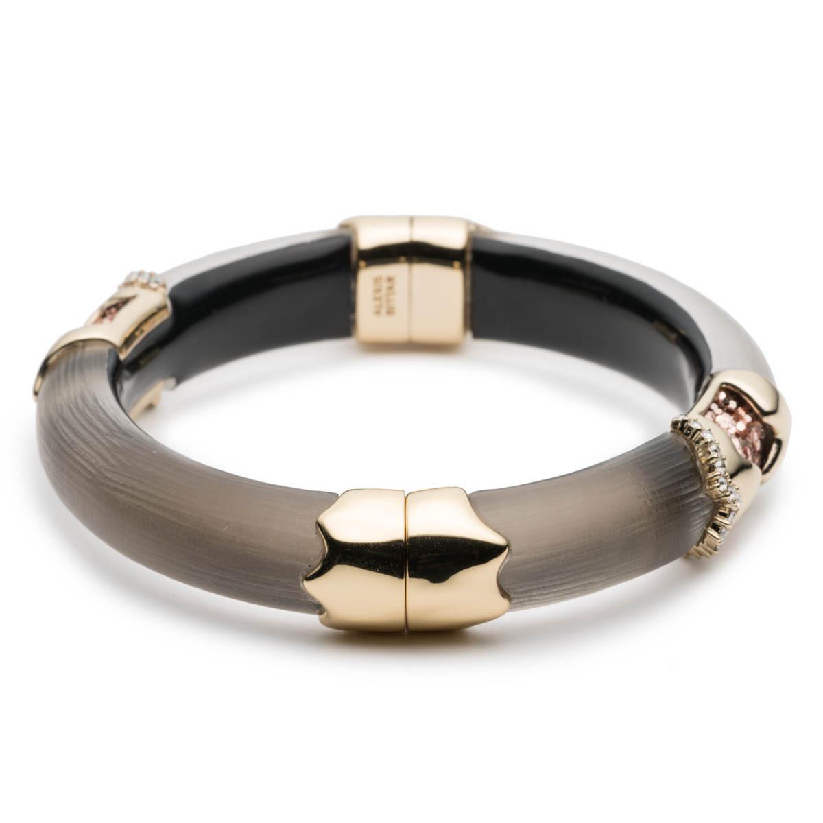 Alexis Bittar Crystal Encrusted Glitter Segmented Hinge Bracelet Warm grey V9F2EZ9