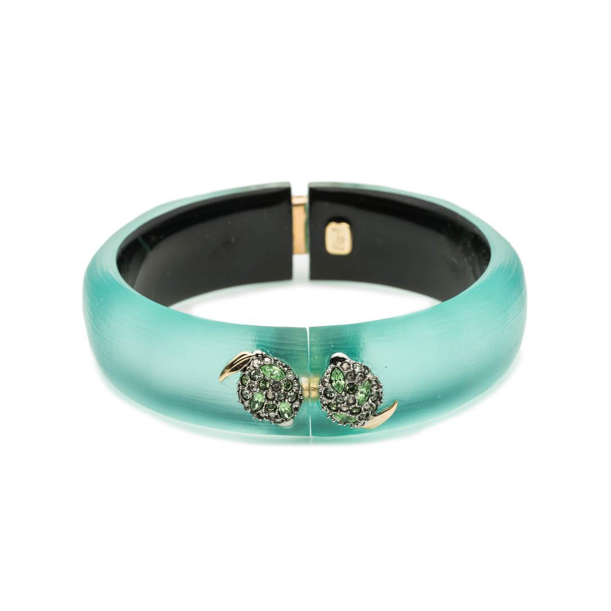 Alexis Bittar Crystal Encrusted Lime Studded Hinge Bracelet Mint green jn0bYV