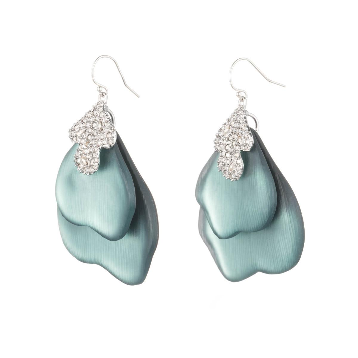 Alexis Bittar Crystal Encrusted Abstract Earrings, Blue