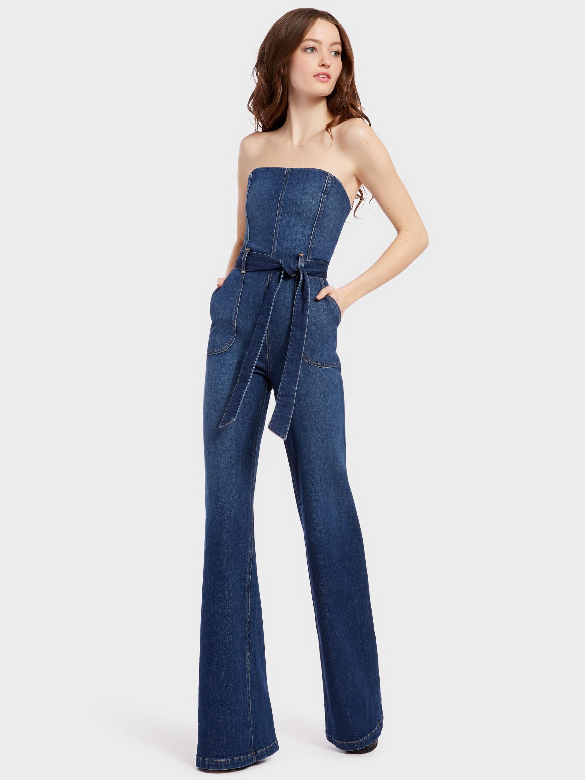 87ba522caa9 Lyst - Alice + Olivia Gorgeous Susy Jumpsuit in Blue
