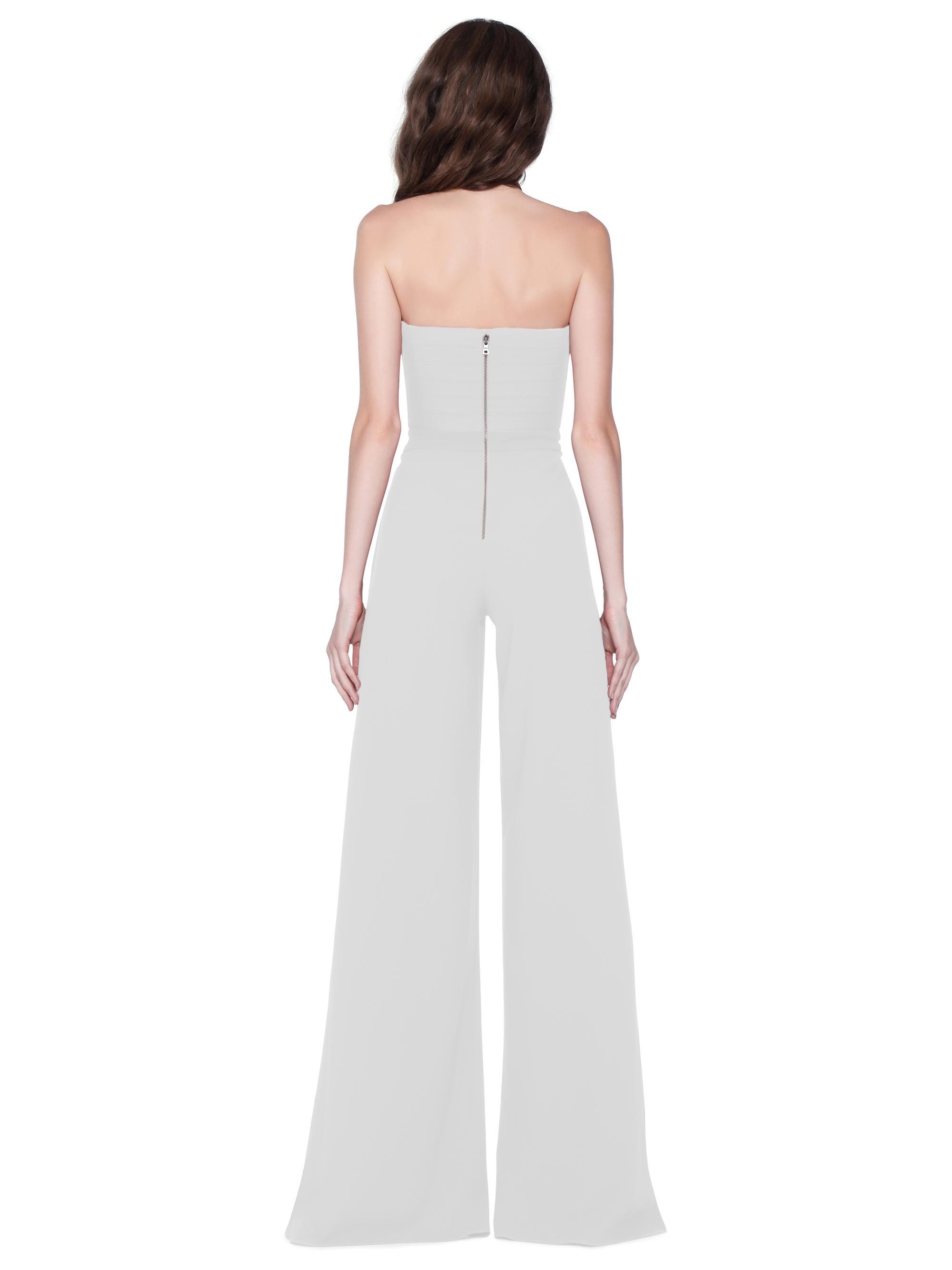 072087d1e87 Lyst - Alice + Olivia Latonya Ruffled Jumpsuit in White