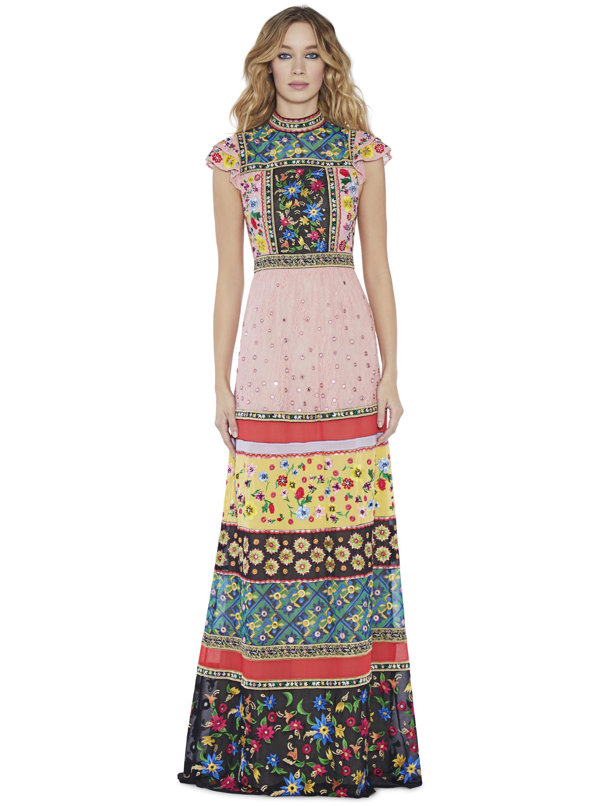 e599b08d90b Alice + Olivia Arabella Embroidered Gown - Lyst