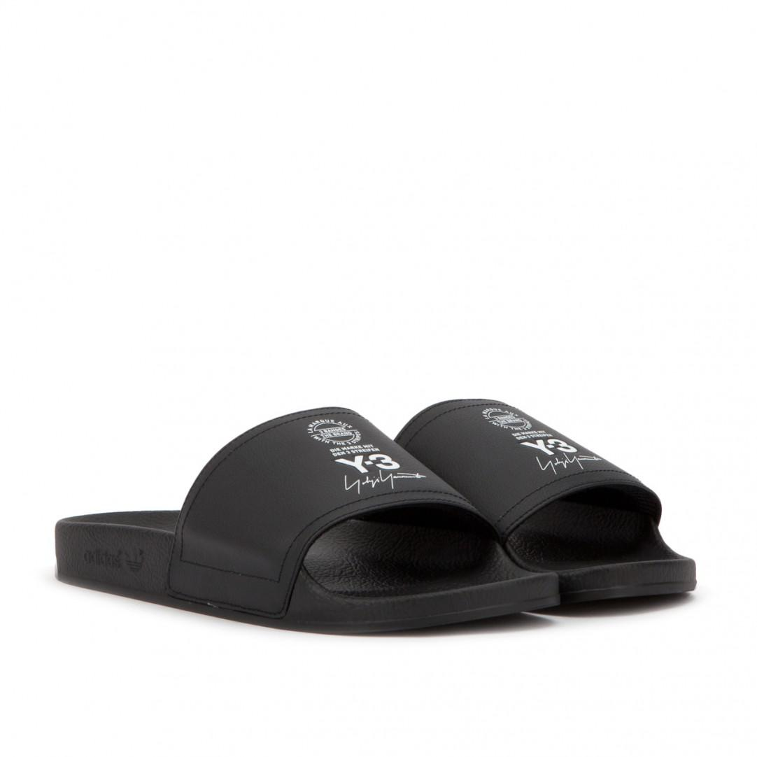 aa8091baf Lyst - Y-3 Adilette in Black for Men - Save 37%
