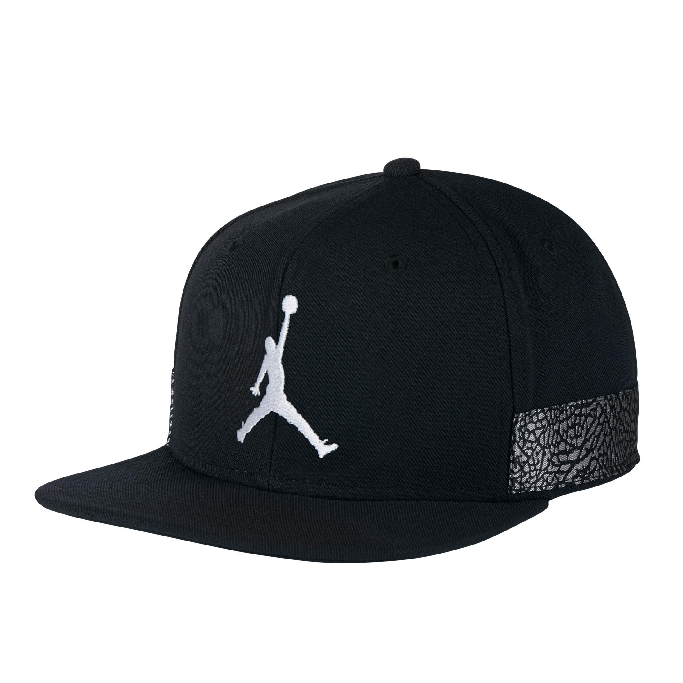 fce818640b2 Nike Nike Air Jordan 3 Jumpman Pro Cap in Black for Men - Lyst