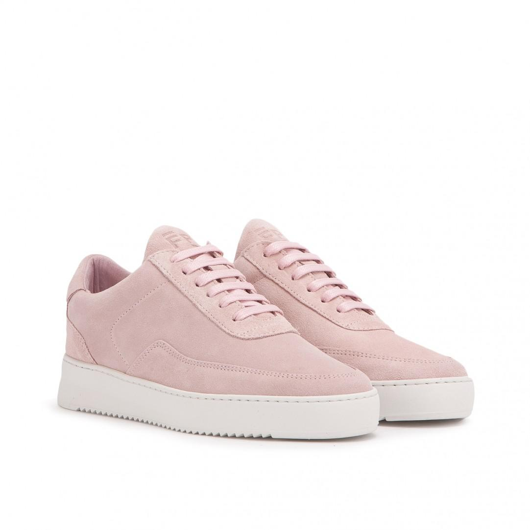 Filling pieces Sneaker RIPPLE suede Logo rose GEHkhpjxpW