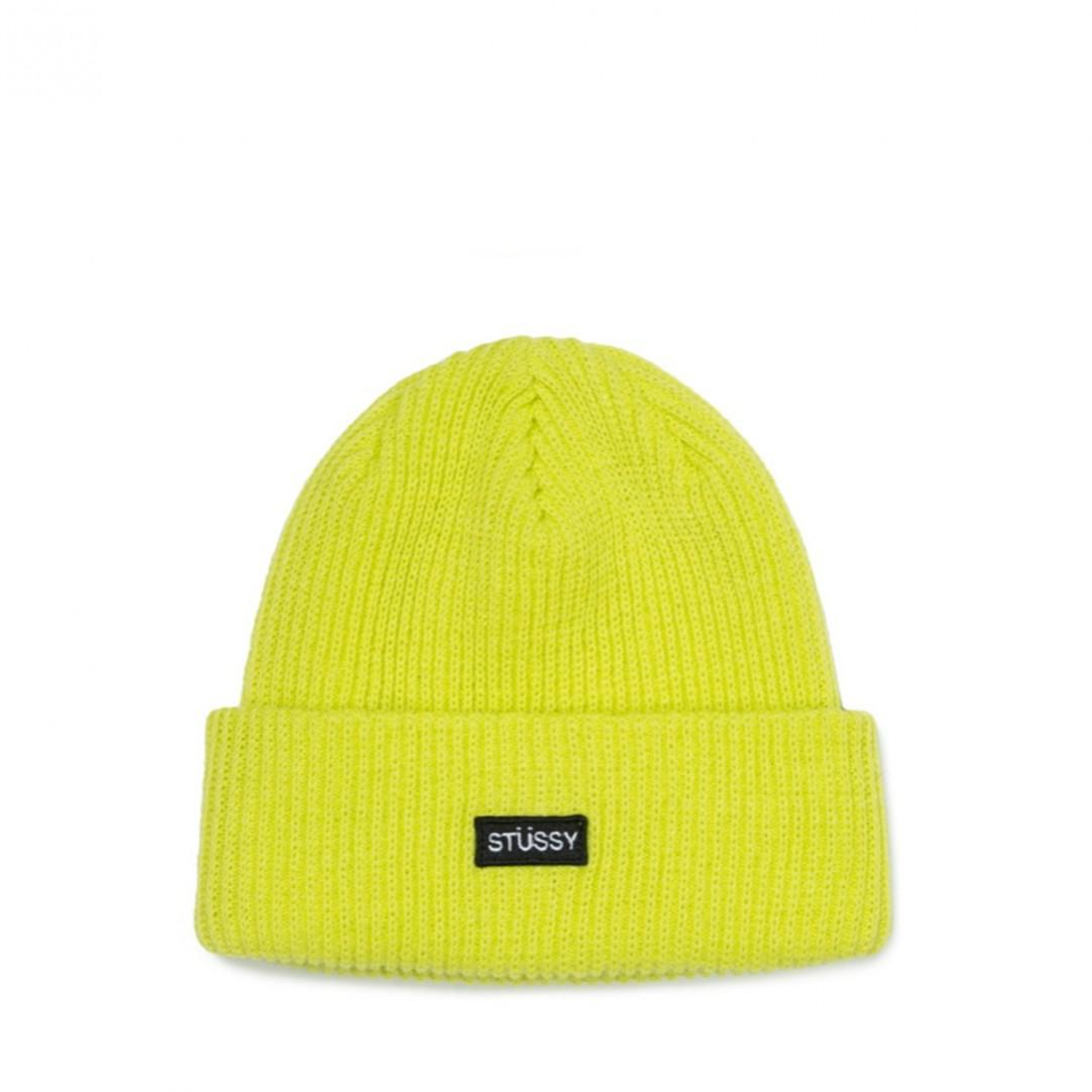 a7cade5eb0b Stussy - Yellow Small Patch Watchcap Beanie for Men - Lyst. View fullscreen