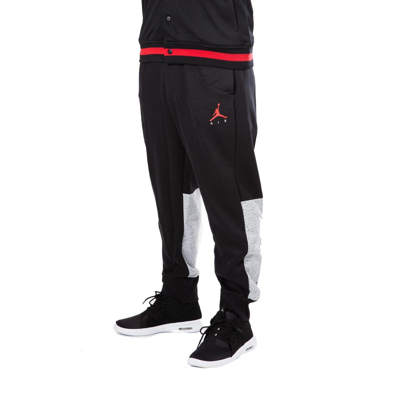 the best attitude e6bba c021a Nike Nike Air Jordan Flight Fleece Cement Pants in Black for Men - Lyst