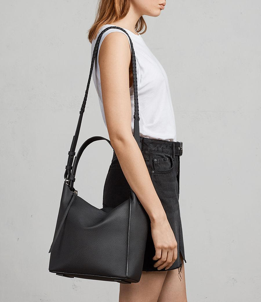 68787d87dd AllSaints Kita Leather Cross Body Bag in Black - Lyst