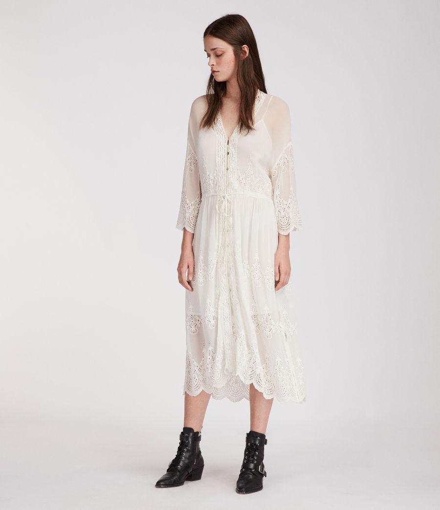 0212c525947 AllSaints Aileen Zinnia Dress in White - Lyst